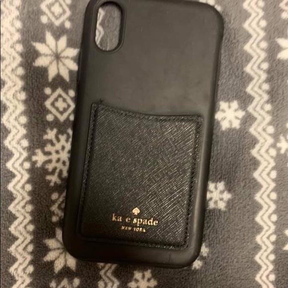 Black phone case with cardholder